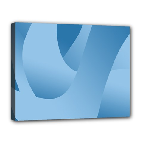 Abstract Blue Background Swirls Canvas 14  X 11  by Simbadda