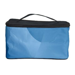 Abstract Blue Background Swirls Cosmetic Storage Case