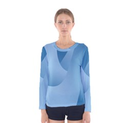 Abstract Blue Background Swirls Women s Long Sleeve Tee