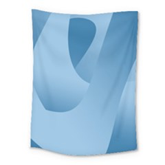 Abstract Blue Background Swirls Medium Tapestry