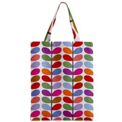 Colorful Bright Leaf Pattern Background Zipper Classic Tote Bag by Simbadda