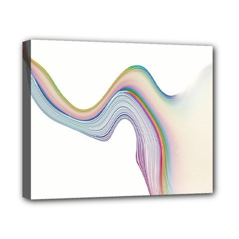 Abstract Ribbon Background Canvas 10  X 8