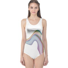 Abstract Ribbon Background One Piece Swimsuit