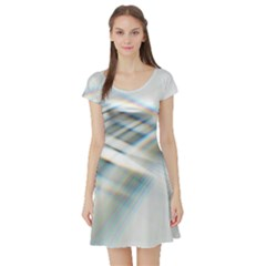 Business Background Abstract Short Sleeve Skater Dress by Simbadda