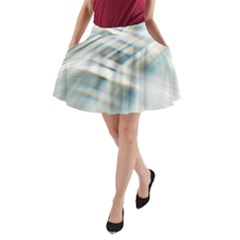 Business Background Abstract A-line Pocket Skirt by Simbadda