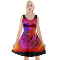 Colors Of My Life Reversible Velvet Sleeveless Dress