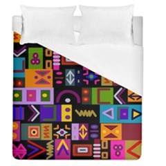Abstract A Colorful Modern Illustration Duvet Cover (queen Size) by Simbadda