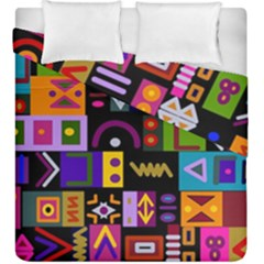 Abstract A Colorful Modern Illustration Duvet Cover Double Side (king Size) by Simbadda