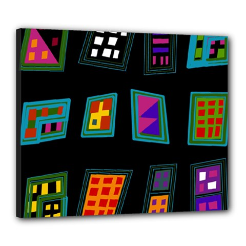 Abstract A Colorful Modern Illustration Canvas 24  X 20