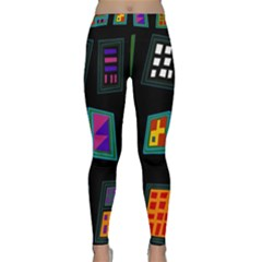 Abstract A Colorful Modern Illustration Classic Yoga Leggings by Simbadda