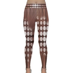 Technical Background With Circles And A Burst Of Color Classic Yoga Leggings by Simbadda
