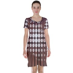 Technical Background With Circles And A Burst Of Color Short Sleeve Nightdress by Simbadda