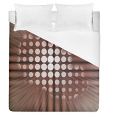 Technical Background With Circles And A Burst Of Color Duvet Cover (queen Size) by Simbadda