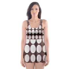 Technical Background With Circles And A Burst Of Color Skater Dress Swimsuit by Simbadda