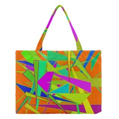Background With Colorful Triangles Medium Tote Bag by Simbadda