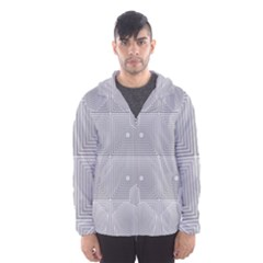 Grid Squares And Rectangles Mirror Images Colors Hooded Wind Breaker (men)