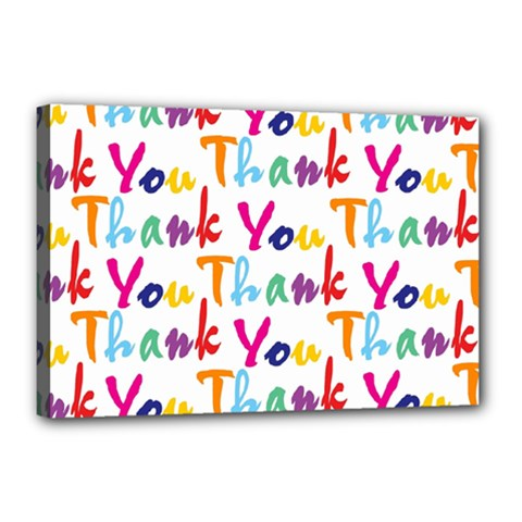 Wallpaper With The Words Thank You In Colorful Letters Canvas 18  X 12  by Simbadda