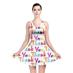 Wallpaper With The Words Thank You In Colorful Letters Reversible Skater Dress