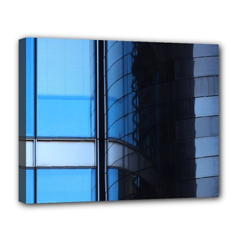 Modern Office Window Architecture Detail Canvas 14  X 11  by Simbadda