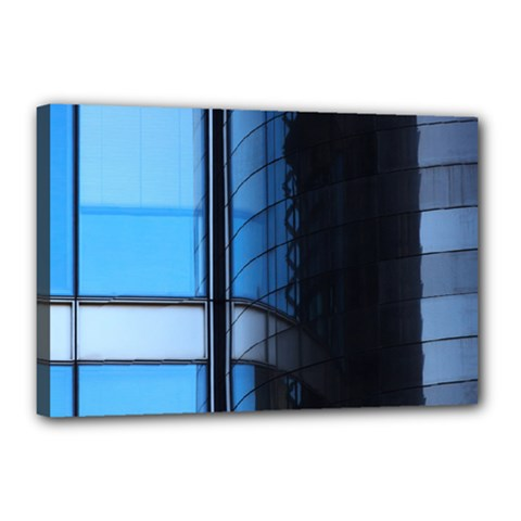 Modern Office Window Architecture Detail Canvas 18  X 12  by Simbadda