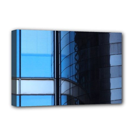Modern Office Window Architecture Detail Deluxe Canvas 18  X 12   by Simbadda