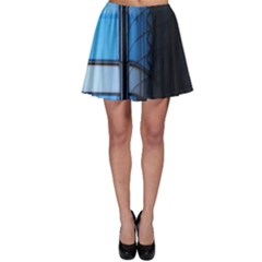Modern Office Window Architecture Detail Skater Skirt by Simbadda