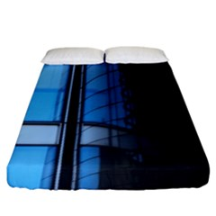 Modern Office Window Architecture Detail Fitted Sheet (king Size) by Simbadda