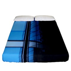 Modern Office Window Architecture Detail Fitted Sheet (california King Size) by Simbadda