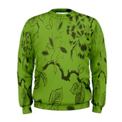 Abstract Green Background Natural Motive Men s Sweatshirt by Simbadda