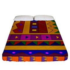 Abstract A Colorful Modern Illustration Fitted Sheet (california King Size) by Simbadda