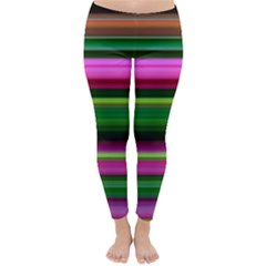 Multi Colored Stripes Background Wallpaper Classic Winter Leggings