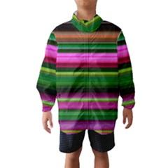 Multi Colored Stripes Background Wallpaper Wind Breaker (kids)