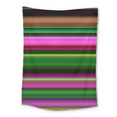Multi Colored Stripes Background Wallpaper Medium Tapestry