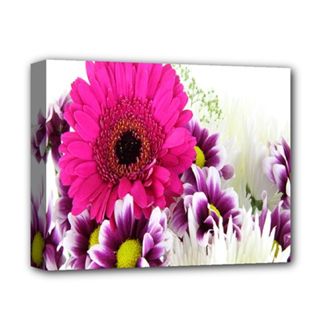 Pink Purple And White Flower Bouquet Deluxe Canvas 14  X 11  by Simbadda