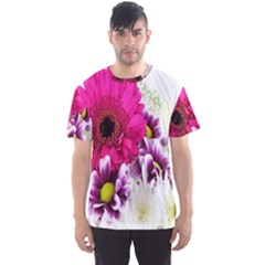 Pink Purple And White Flower Bouquet Men s Sport Mesh Tee