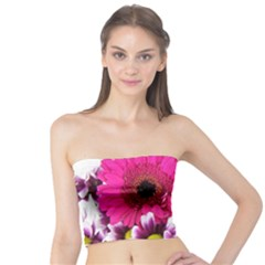 Pink Purple And White Flower Bouquet Tube Top by Simbadda