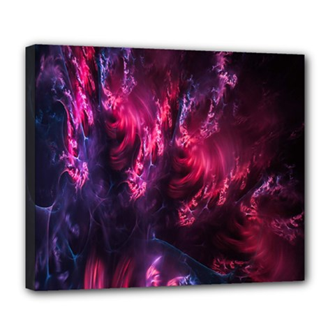 Abstract Fractal Background Wallpaper Deluxe Canvas 24  X 20   by Simbadda