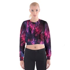 Abstract Fractal Background Wallpaper Women s Cropped Sweatshirt