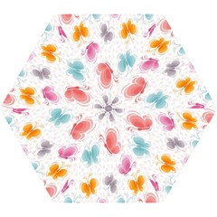 Butterfly Pattern Vector Art Wallpaper Mini Folding Umbrellas