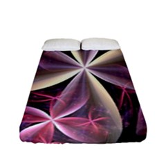 Pink And Cream Fractal Image Of Flower With Kisses Fitted Sheet (full/ Double Size) by Simbadda