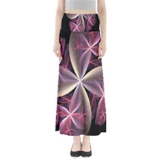 Pink And Cream Fractal Image Of Flower With Kisses Maxi Skirts