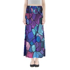 Cubes Vector Art Background Maxi Skirts
