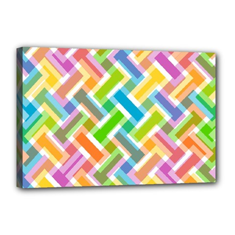 Abstract Pattern Colorful Wallpaper Background Canvas 18  X 12  by Simbadda