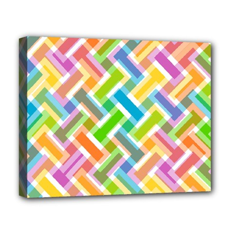 Abstract Pattern Colorful Wallpaper Background Deluxe Canvas 20  X 16   by Simbadda