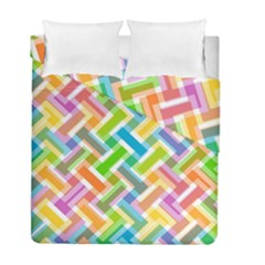 Abstract Pattern Colorful Wallpaper Background Duvet Cover Double Side (full/ Double Size) by Simbadda