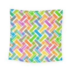 Abstract Pattern Colorful Wallpaper Background Square Tapestry (small) by Simbadda