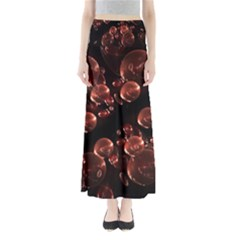 Fractal Chocolate Balls On Black Background Maxi Skirts