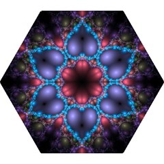Blue Heart Fractal Image With Help From A Script Mini Folding Umbrellas by Simbadda