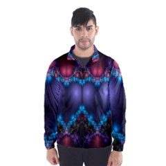 Blue Heart Fractal Image With Help From A Script Wind Breaker (men) by Simbadda