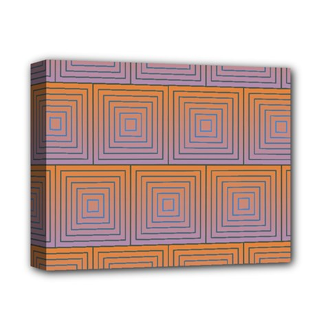 Brick Wall Squared Concentric Squares Deluxe Canvas 14  X 11  by Simbadda
